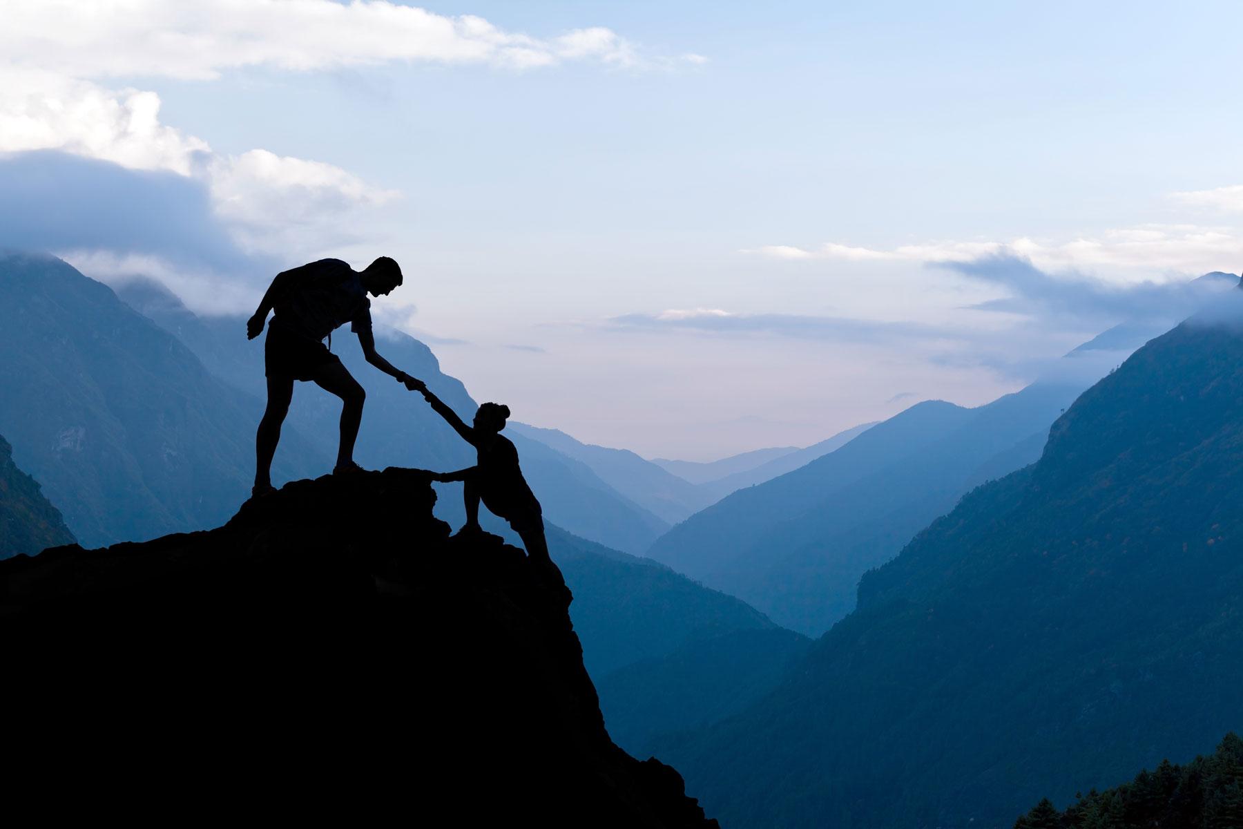 avgs-gutschein hilfe beim bergsteigen